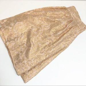 BR Monogram Copper Peach Lace Skirt NWT